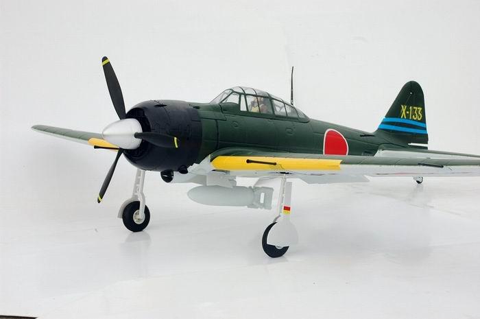 FMS 1400mm A6M Zero Warbird RC Plane PNP (Green) No Radio