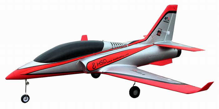 hsd 1100mm viperjet v2 6s 75mm edf jet pnp silver no radio. Black Bedroom Furniture Sets. Home Design Ideas