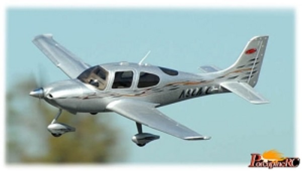 Dynam 1400mm SR22 RC Plane Upgraded PNP (Silver) No Radio