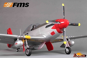 FMS 1450mm P-51D V8 Warbird RC Plane PNP (Red) No Radio