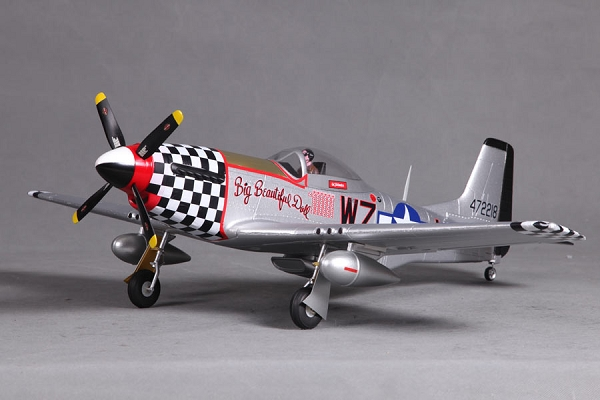 FMS 800mm P-51D Warbird RC Plane PNP (Big Beautiful Doll) No Radio