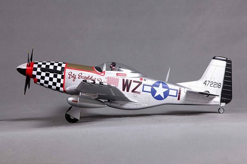 FMS 800mm P-51D Warbird RC Plane PNP (Big Beautiful Doll) with REFLEX No Radio