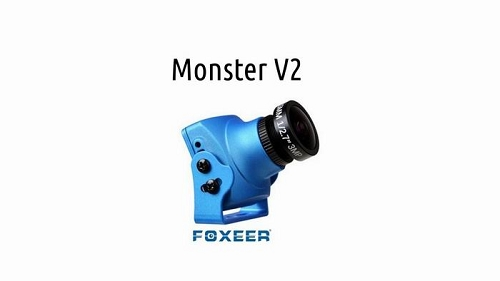 Foxeer Monster V2 1200TVL 1/3 CMOS 16:9 PAL/NTSC IR Block FPV Camera w/ OSD and Audio