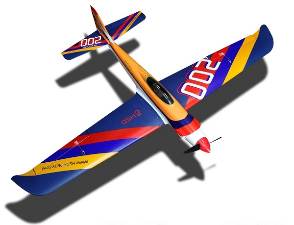 HSD 1300mm Furious 200 Aerobatics RC Plane PNP (Blue) No Radio