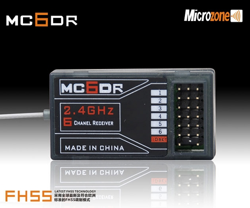 Microzone MC6DR 2.4Ghz 6 CH Receiver Only for MC6 MC4