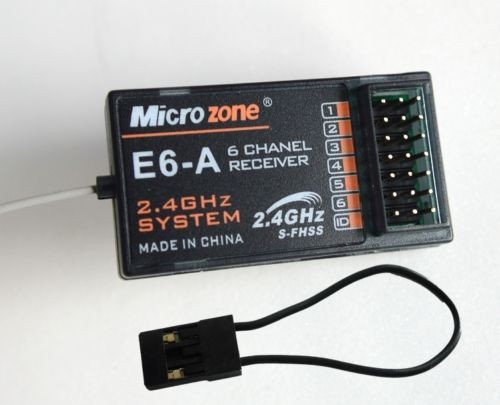 Microzone E6-A 2.4Ghz 6 CH Receiver ONLY for MC6S MC4S