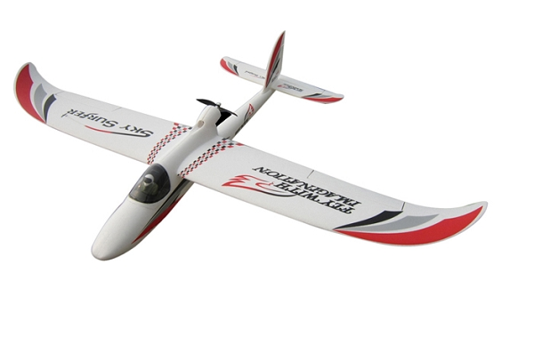 Powerzone 1400mm Sky Surfer RC Plane PNP (Red) No Radio