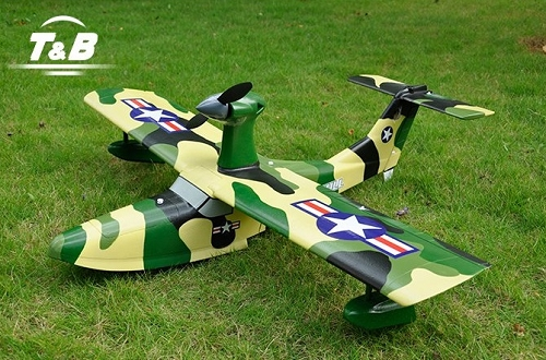 T&B 1055mm SeaGull RC Trainer Sea Plane(Green Camo)
