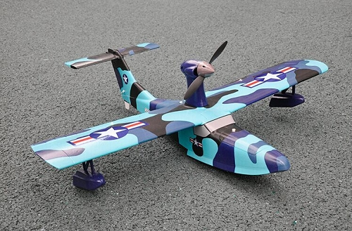 T&B 1055mm SeaGull RC SeaPlane KIT (Blue Camo) No Electronics