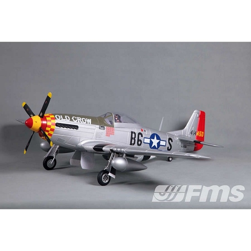 FMS 1450mm P51D V8 Old crow PNP (Red) No Radio