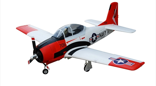 FMS 1400mm T-28D Trojan V4 RC Plane PNP (RED) No Radio