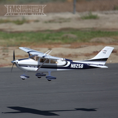FMS 1400mm Sky Trainer 182 RC Plane PNP (BLUE) with REFLEX No Radio