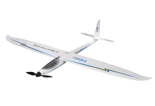 TOP RC 1500mm Lightning Sport Motor Glider RC Plane PNP Blue No Radio