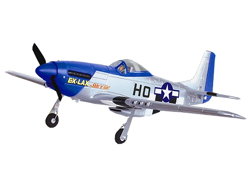 Volantex 750mm P-51 Mustang Brushless With Gyro RC Plane RTF No Battery Blue