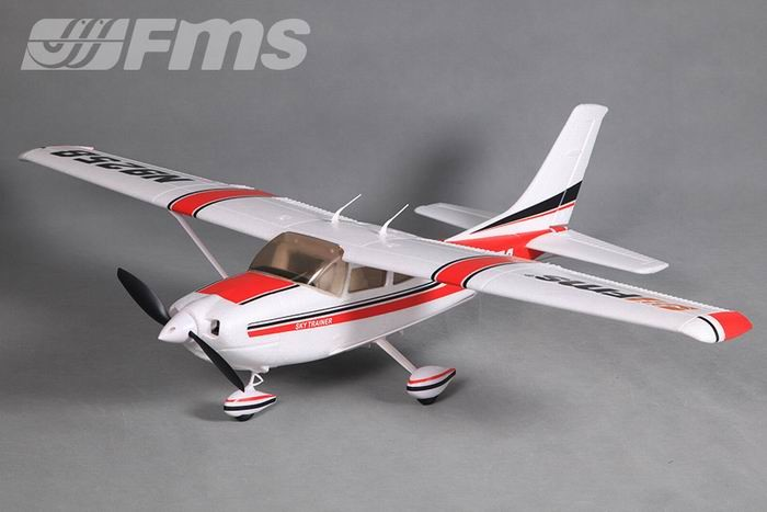 FMS 1100mm Cessna 182 Sky Trainer V2 RC Plane PNP (Red) No Radio