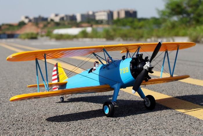 FMS 1100mm PT-17 RC Bi-Plane PNP No Radio