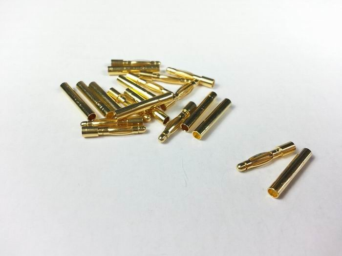 2mm Gold Connector (10 pairs/set)