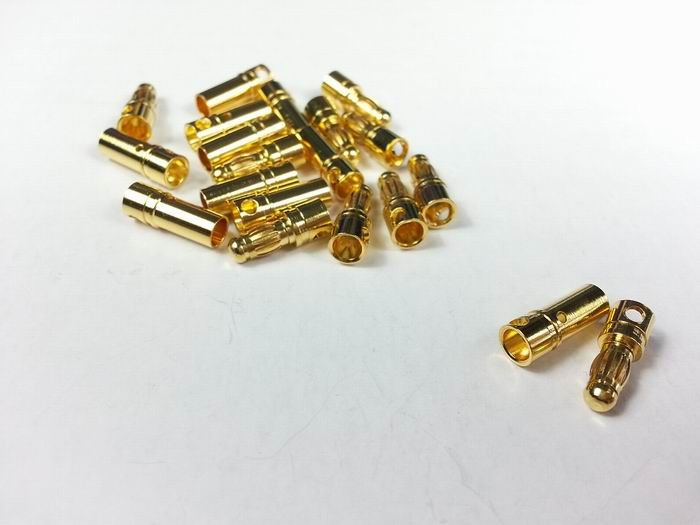 3.5mm Gold Connector (10 pairs/set)