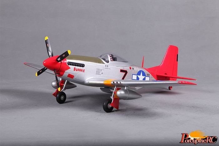 FMS 800MM P-51D Warbird RC plane PNP (Red Tail) No Radio