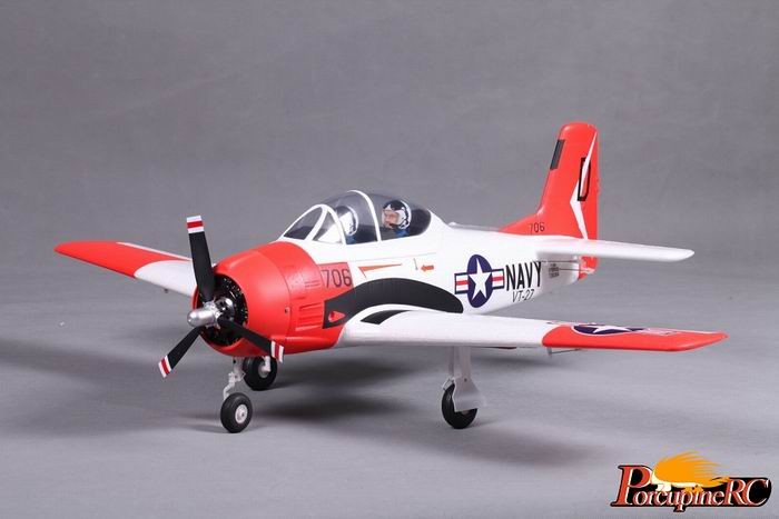 FMS 800MM T-28 V2-Red Warbird RC plane PNP with REFLEX No Radio