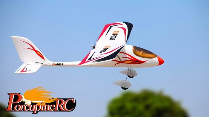 FMS 900mm Red Dragonfly RC Plane PNP No Radio