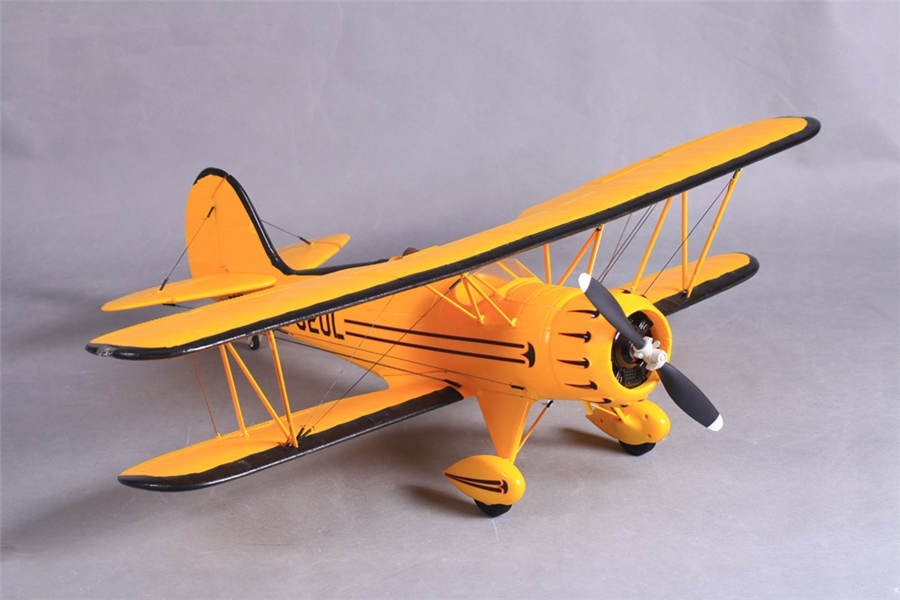 FMS 1030MM Waco Yellow RC Bi-Plane PNP No Radio