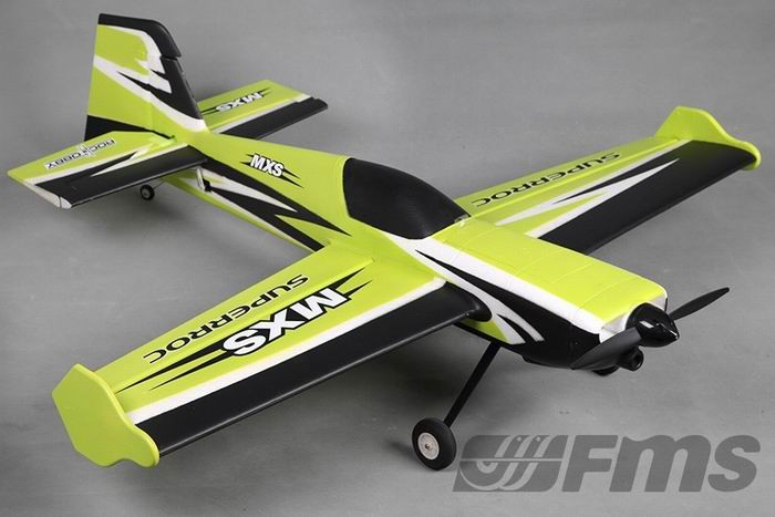 FMS 1100mm MXS V2 3D Aerobatic RC Plane GREEN PNP No Radio