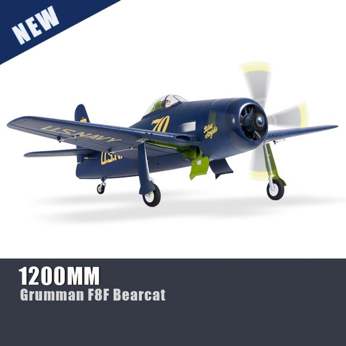 FreeWing Flightline 1200mm F8F-1 Bearcat Warbirds RC Plane PNP No Radio