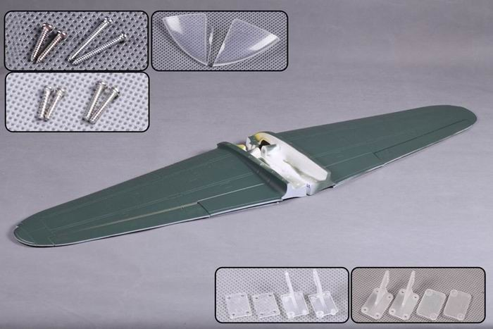 FMS 1400mm Zero MJ102-GRN Main wing set