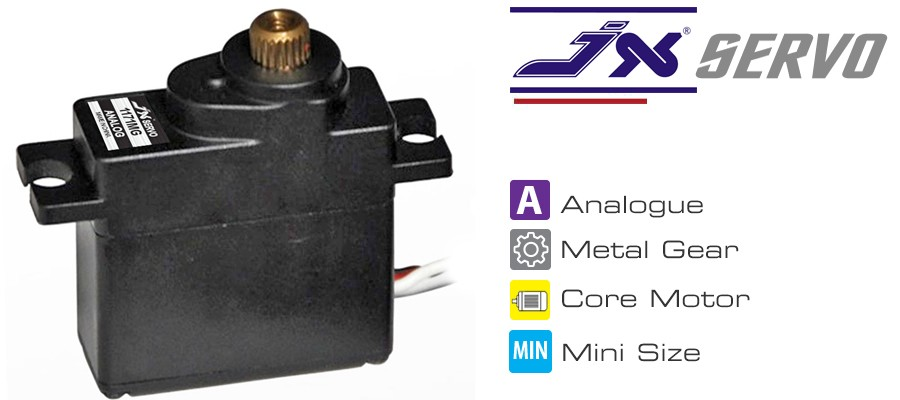 JX Servo PS-1171MG 17g metal servo analog