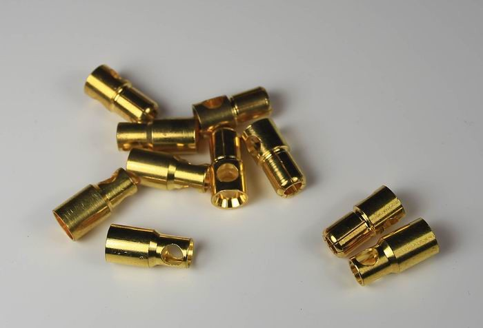 gold connector(6mm)(5 pairs)